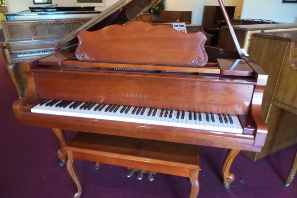 Yamaha Satin Cherry Queen Anne Grand Piano - STK# WFP244866